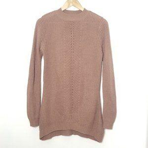 Dynamite | Tan Knit Tunic Cotton Sweater Top P/S